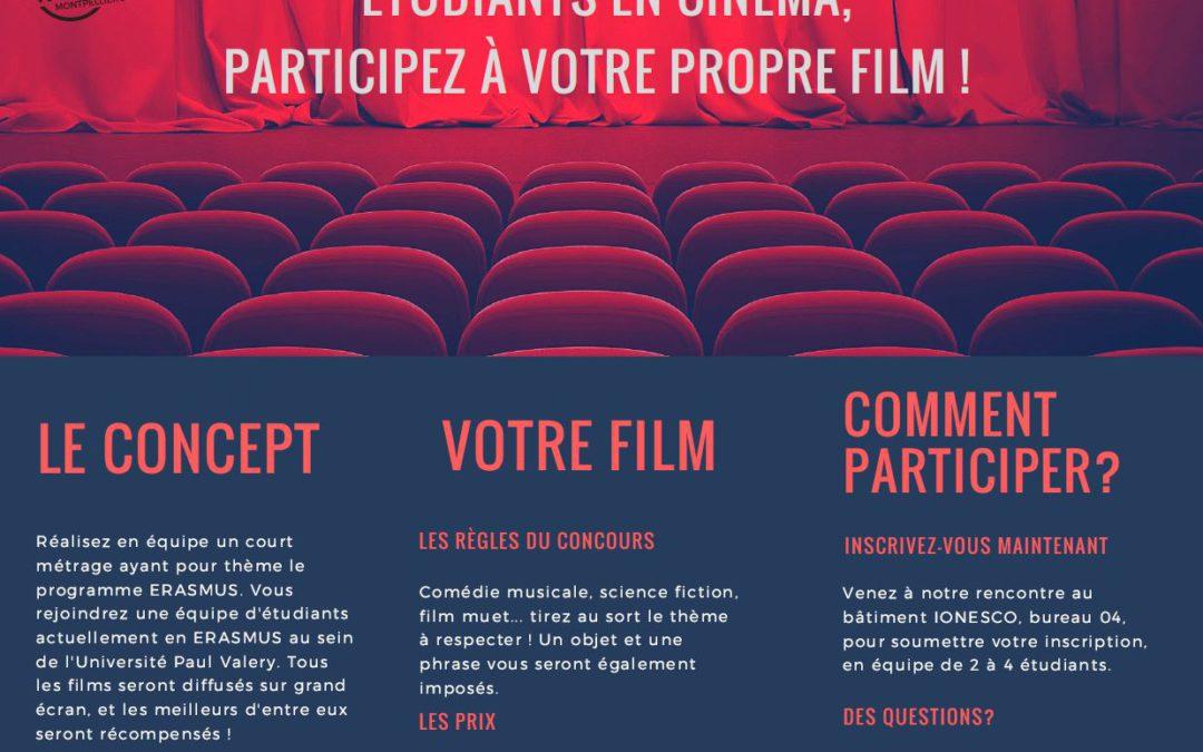 Etudiants en Cinéma : réalisez votre propre film pour les 30 ans d'ERASMUS !