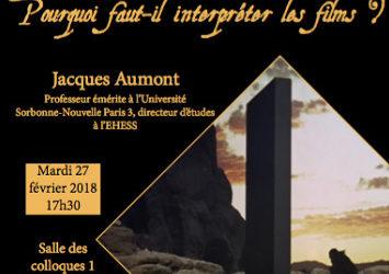 Rencontre avec Jacques Aumont le 27 février 2018