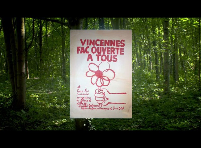 Semaine 16-20 avril : projection «Vincennes l'université perdue», cours…
