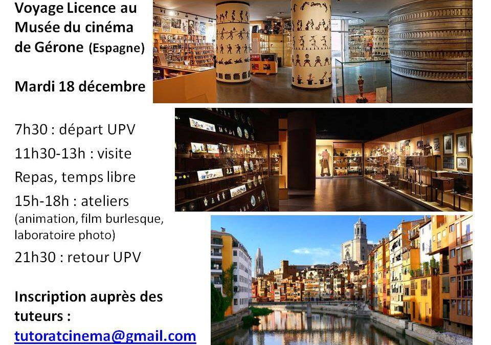 Voyage au musée du cinéma de Gérone pour les L1 Mardi 18 décembre 2018