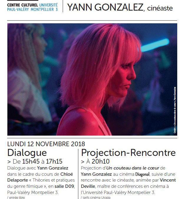 """Cycle ART&IMAGES n°1 : Yann Gonzalez, """"Un couteau dans le cœur"""", lundi 12 novembre"""