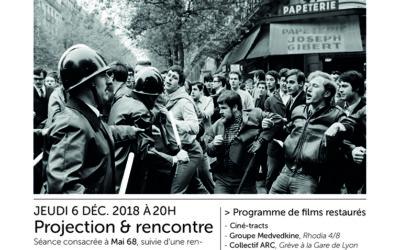 Cycle Art & Images – Le cinéma de mai 68 / Jeudi 6 Décembre