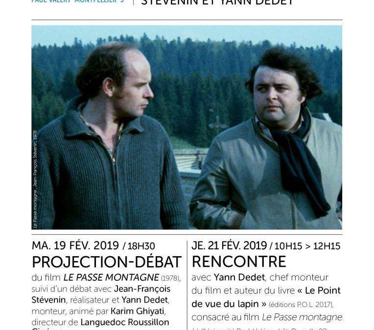 Rencontres des 19 et 21 février / Cycle Art et Images #4 avec Jean-François Stévenin & Yann Dedet