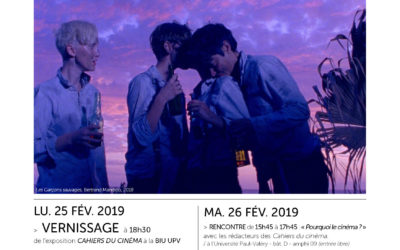 Les Cahiers du cinéma à l'UPV 25-26-27 février 2019