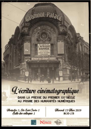Journée d'études « L'écriture cinématographique dans l'entre-deux-guerres », mercredi 13 mars