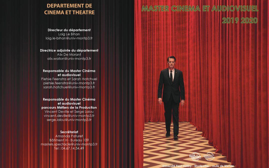 Rentrée du Master Cinéma et audiovisuel