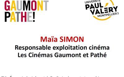 INVITÉ PRO Maïa Simon Les Cinéma Gaumont et Pathé le 18 novembre