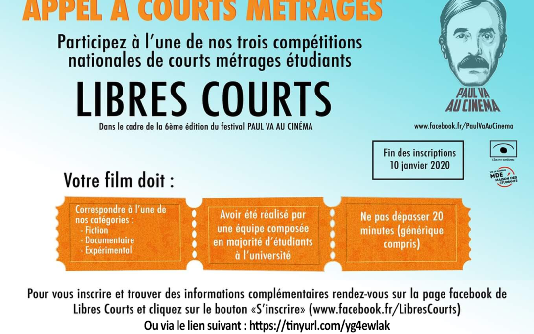 APPEL À COURTS MÉTRAGES