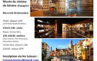 Voyage au musée du cinéma de Gérone pour les L1 Mercredi 18 décembre 2019