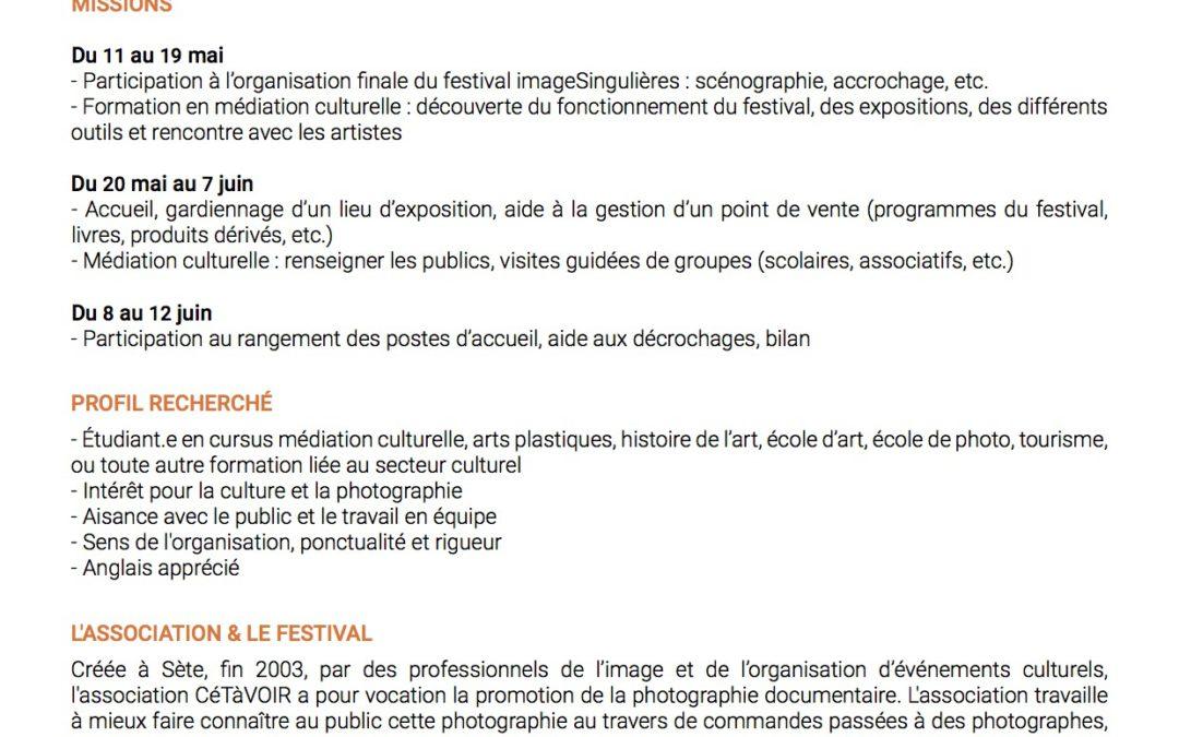 Offre de stage festival ImageSingulières