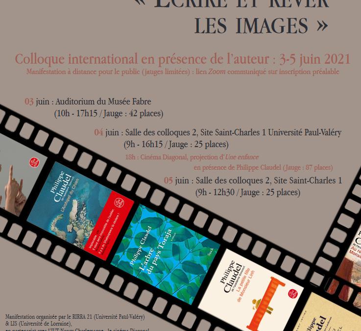 programme Colloque Philippe Claudel