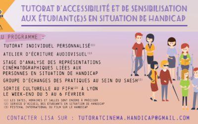 Tutorat d'accessibilité et de sensibilisation aux étudiant.e.s en situation de handicap
